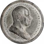 1825 John Quincy Adams Inaugural Medal. White Metal. 50 mm. Julian PR-5, DeWitt-JQA 1824-1. MS-61 (P