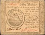CC-85. Continental Currency. September 26, 1778. $50. Choice About Uncirculated.
