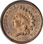 1861 Indian Cent. MS-65 (PCGS). CAC.