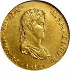 PERU. 8 Escudos, 1813-LM JP. Lima Mint. Ferdinand VII. NGC AU-50.