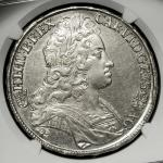"HOUSE OF HABSBURG Karl VI カール6世(1711~40) Taler 1727KB NGC-AU Details""Surface Hairlines"" 洗浄 EF"