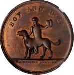 New York--New York. Undated (1858) George H. Lovett. Miller-NY 495F. Copper. Reeded Edge. MS-66 BN (
