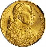 ITALY. Vatican City. 100 Lire, 1937 (Year XVI). Pius XI. NGC MS-66.