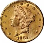 1881-S Liberty Head Double Eagle. MS-62 (PCGS). CAC.