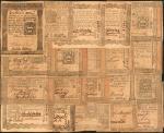 宾夕法尼亚殖民地纸币一组 优美