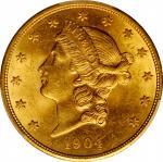 1904 Liberty Head Double Eagle. MS-63 (PCGS).
