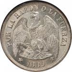 CHILE. Peso, 1889-So. NGC MS-65.