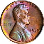 1956 Lincoln Cent. MS-66 RB (PCGS). CAC.