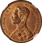 1903年1Att。THAILAND. Att, RS 122 (1903). NGC MS-65 Red Brown.