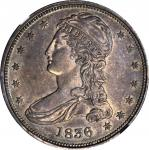 1836 Capped Bust Half Dollar. Reeded Edge. 50 CENTS. GR-1, the only known dies. Rarity-2. AU Details