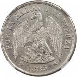 CHILE. Peso, 1885-So. NGC MS-62.