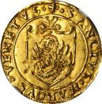 ITALY. Venice. Scudo dOro, ND (1523-39). Andrea Gritti. NGC MS-64.