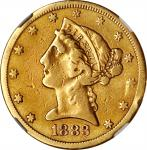 1883-CC Liberty Head Half Eagle. VF Details--Damaged (NGC).