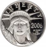 2006-W Quarter-Ounce Platinum Eagle. Proof-70 Deep Cameo (PCGS).