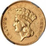 1854-O Three-Dollar Gold Piece. AU-55 (NGC).