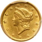 1853 $1 Gold Liberty. PCGS MS61