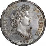 1859 Pattern Half Dollar. Judd-237, Pollock-293. Rarity-4. Silver. Reeded Edge. Proof-65 (NGC).