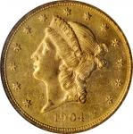 1904 Liberty Head Double Eagle. MS-62 PL (NGC).