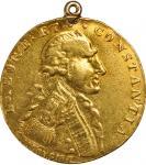 1796/7年克劳德-马丁铸造金章。INDIA. Claude Martin Cast Gold Medal, AH 1211 (1796/7). EXTREMELY FINE Details.