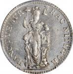 1759年荷兰海尔德兰1/4古尔登。NETHERLANDS. Gelderland. 1/4 Gulden (Mintmaster Medal), 1759. PCGS MS-63 Prooflike