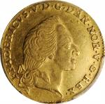 DENMARK. 12 Mark (Courant Ducat), 1761-W VH. Copenhagen Mint. Frederik V. PCGS Genuine--Filed Rims,