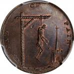 "Great Britain--Middlesex. ""1793"" (1796) End of Pain Farthing Token. D&H-1106a, W-8924. Copper. Plain"
