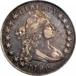 1796 Draped Bust Silver Dollar. B-2, BB-63. Rarity-4. Small Date, Small Letters. EF-45 (PCGS).