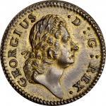 1722 Rosa Americana Halfpenny. Martin 2.1-B.1, W-1218. Rarity-4. D:G: REX. MS-63 (PCGS).