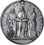 BARBADOS. Ladies Association Medal, 1825. NGC AU Details--Holed, Reverse Scratched.