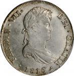 PERU. 8 Reales, 1816-LIMA JP. Lima Mint. Ferdinand VII. PCGS MS-61 Gold Shield.