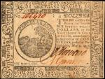 CC-36. Continental Currency. May 9, 1776. $6. Extremely Fine.