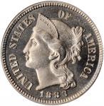 1883 Nickel Three-Cent Piece. Proof-65 (PCGS). CAC. OGH.