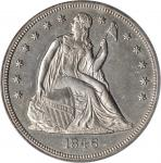 1846 Liberty Seated Silver Dollar. AU-55 (PCGS).