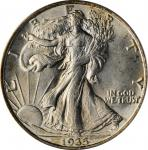 1935 Walking Liberty Half Dollar. MS-64 (PCGS). OGH.