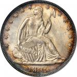 1891 Liberty Seated Half Dollar. WB-101. MS-66 (PCGS). CAC.