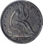 1873-CC Liberty Seated Half Dollar. Arrows. WB-7. Rarity-4. Large CC. EF Details--Damage (PCGS).