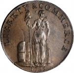 1795 Talbot, Allum & Lee Cent. Fuld-1, W-8260. Rarity-1. Lettered Edge: WE PROMISE TO PAY THE BEARER