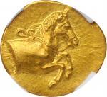 SICILY. Gela. AV Litra (0.87 gms), ca. 415-405 B.C. NGC Ch MS★, Strike: 5/5 Surface: 4/5. Fine Style