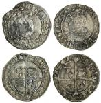 Henry VIII (1509-47), third coinage, Groats (2), both York, 2.43g, m.m. none, henric 8 d g agl fra z