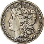 1893-S Morgan Silver Dollar. VF-20 (PCGS).