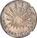 MEXICO. 4 Reales, 1860-Ga JG. Guadalajara Mint. NGC EF Details--Scratches.