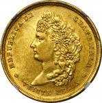 GUATEMALA. 20 Pesos, 1878-F. Nueva Guatemala Mint. NGC MS-61.