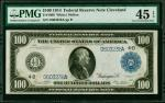 Fr. 1099. 1914 $100  Federal Reserve Note.  Cleveland. PMG Choice Extremely Fine 45 EPQ.