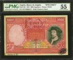 ANGOLA. Banco de Angola. 1000 Angolares, 1944. P-82s. Specimen. PMG About Uncirculated 55.