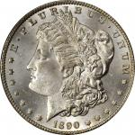 1890-CC Morgan Silver Dollar. VAM-4. Top 100 Variety. Tailbar. MS-64+ (PCGS).