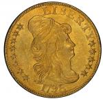1798 Capped Bust Right Half Eagle. Bass Dannreuther-2. Rarity-5. Large 8, 13-Star Reverse, Narrow Da