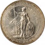 1912-B年英国贸易银元站洋一圆银币。孟买铸币厂。GREAT BRITAIN. Trade Dollar, 1912-B. Bombay Mint. PCGS MS-63+ Gold Shield.