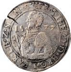 NETHERLANDS. Gelderland - Batenburg. Daalder, 1577. Herman Diederik. PCGS AU-50 Gold Shield.