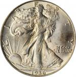 1936-D Walking Liberty Half Dollar. MS-65 (PCGS). OGH.