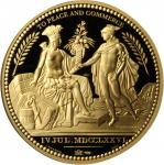 (2013) Paris Mint copy of the United States Diplomatic Medal. Gold. 2 ounces. .916 Fine. Proof-69DCA